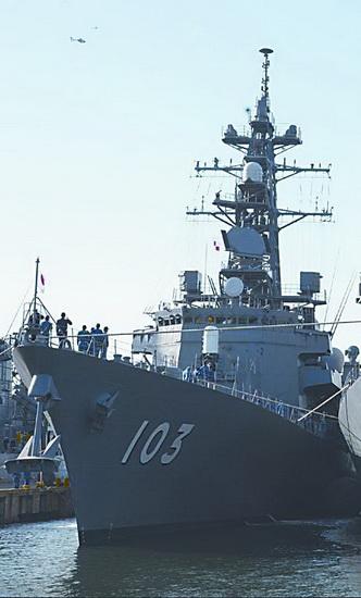 """为日媒宣称遭雷达照射的""""夕立""""号。"""