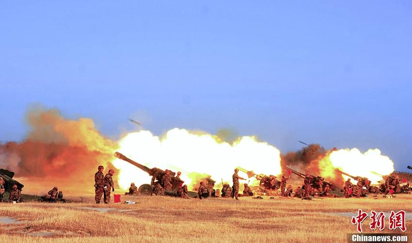 高清:联合2013军事演习进入火力封控阶段--军