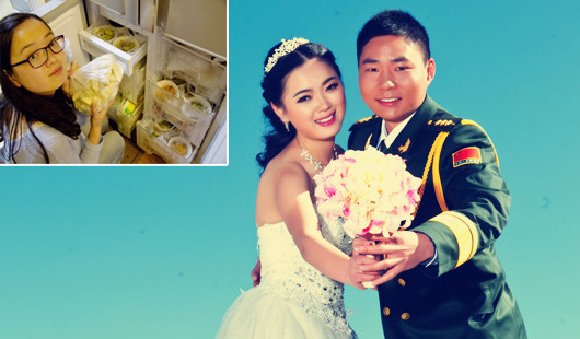 为妻准备食物爆红驻藏军人婚纱照曝光