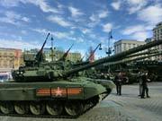 停在红场的待阅坦克