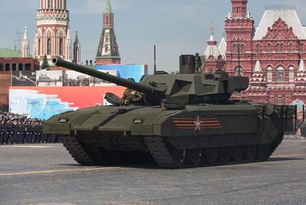 """""""阿玛塔""""T-14主战坦克首次公开亮相5月9日,俄罗斯在莫斯科红场举行纪念卫国战争胜利70周年阅兵式。俄罗斯新一代主战坦克T-14""""阿玛塔""""首次亮相,成为此次阅兵亮点之一。"""