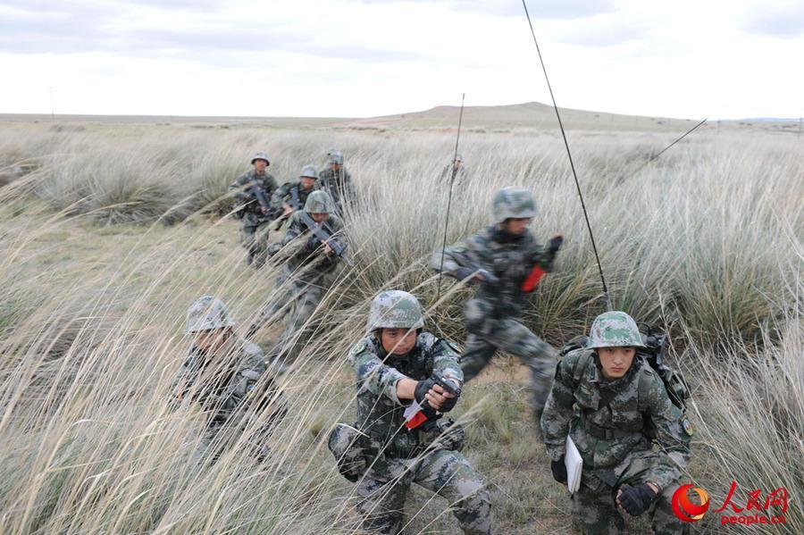 根据战场地形复杂陌生等特点,迅速展开地毯式搜索。