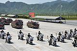 摩托车礼宾方队护卫老兵车队