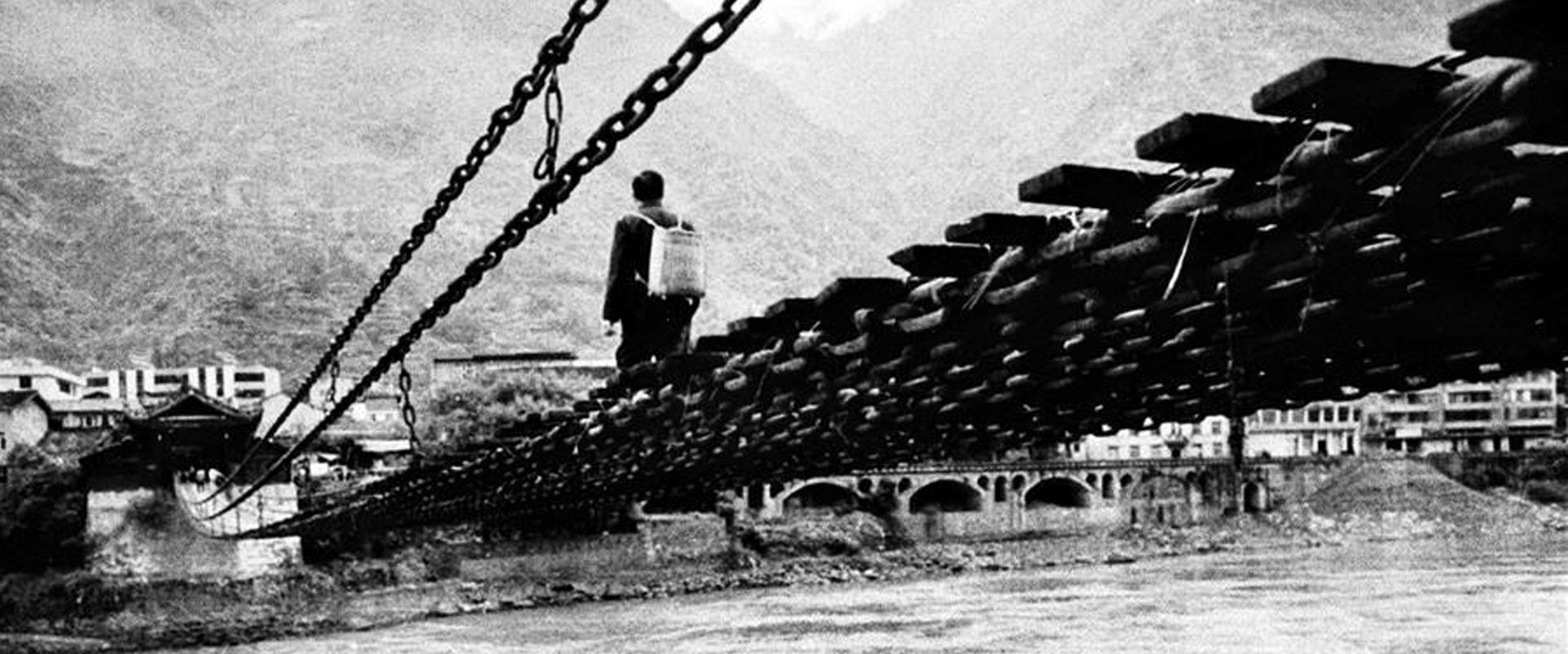 大渡河上的泸定桥