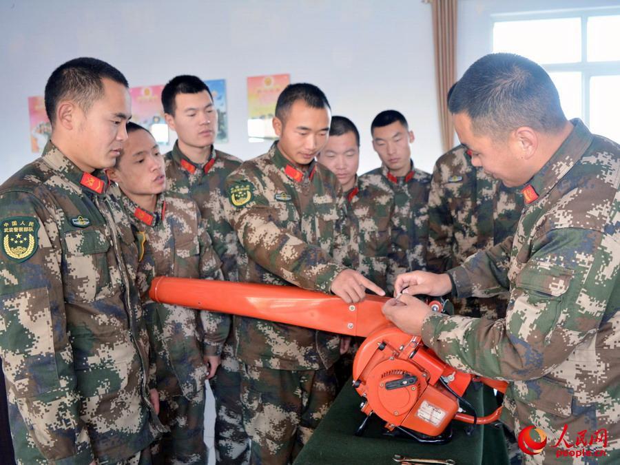 武警森林部队开展退役士兵政治工作 图图片