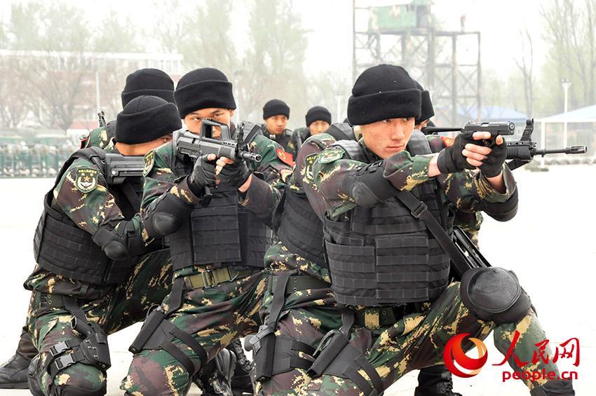 特战队员展开课目训练(摄影:人民网记者 黄子娟)