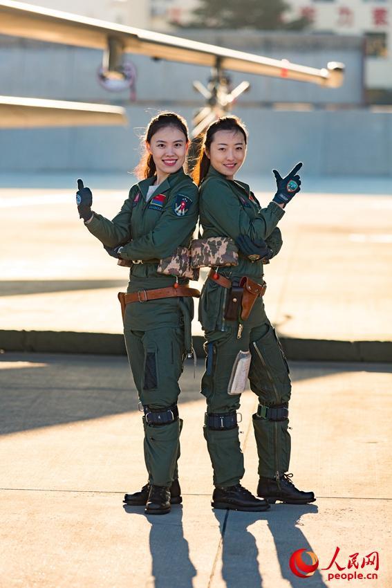 女飞行学员。杨盼摄