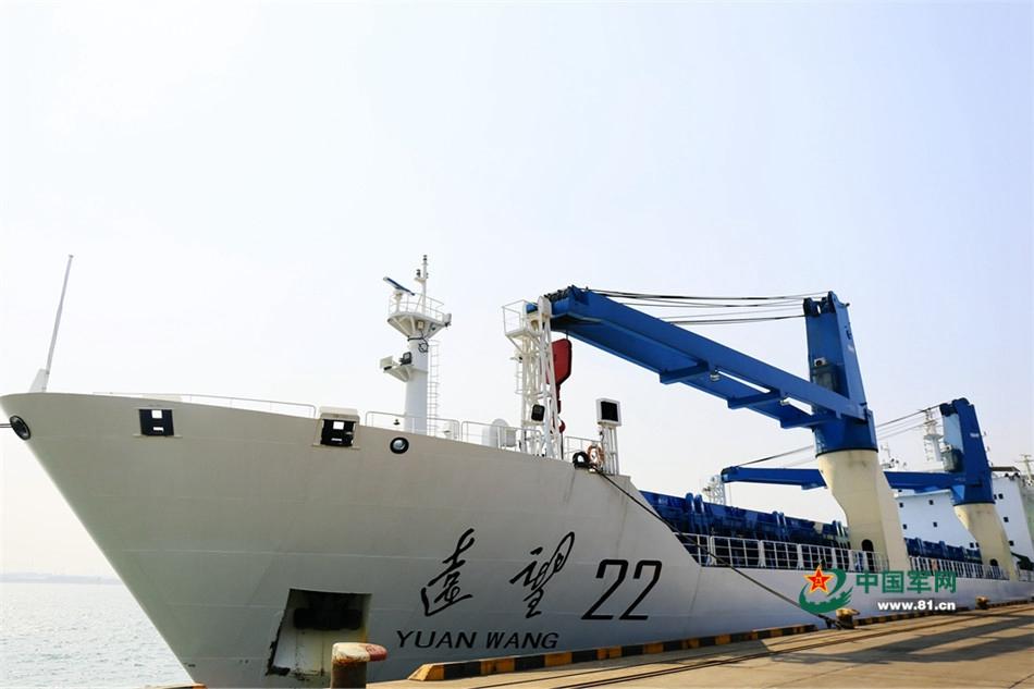 停靠天津港的远望22号