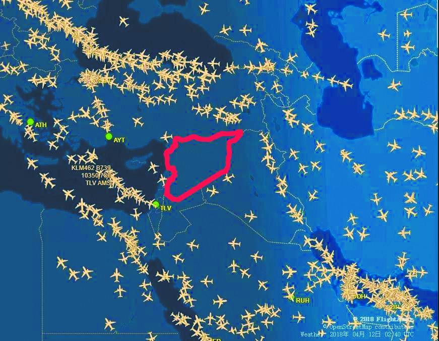 叙利亚大战似乎一触即发?航空组织发布紧急通知