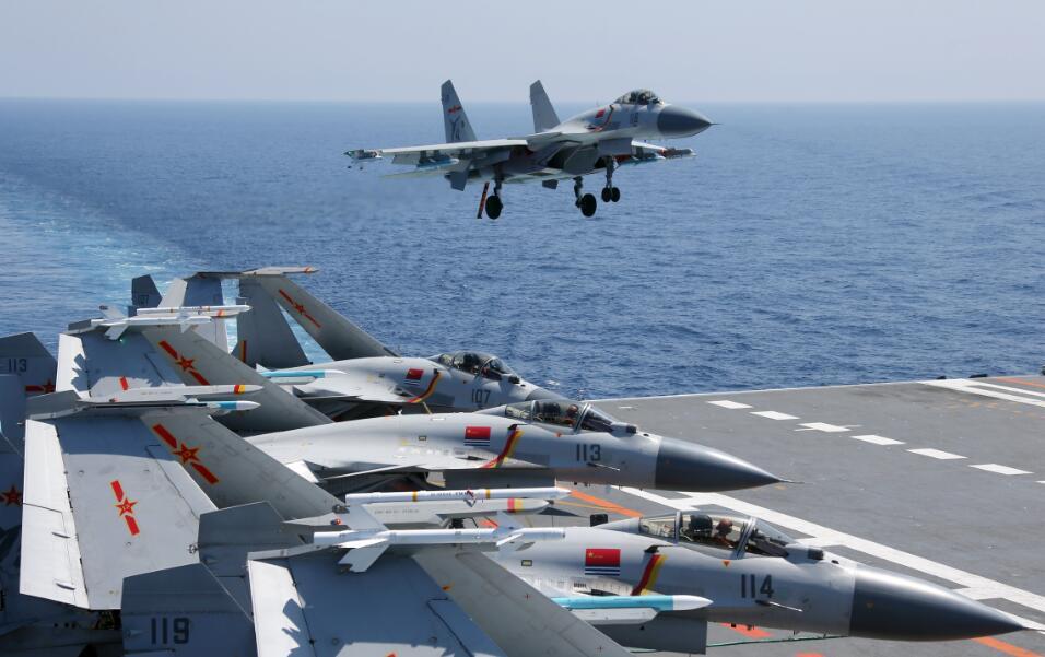 专家:我国舰载航空兵联队已初具规模 有近20架舰载机