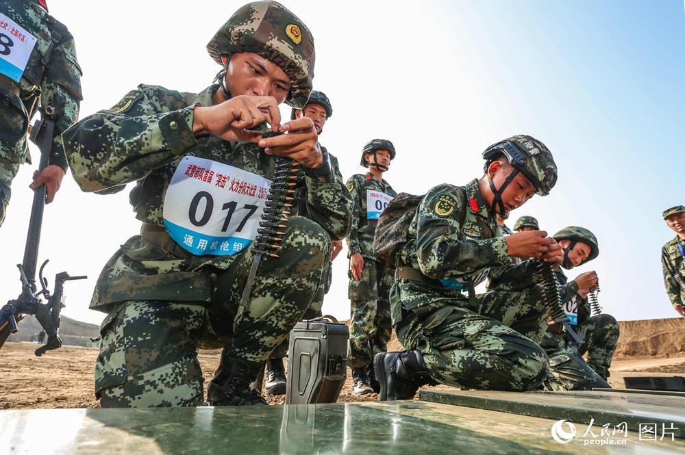 """武警部队举行首届""""突击""""火力分队大比武"""