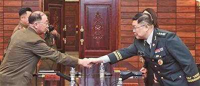 朝韩领导人会晤前军方再互动