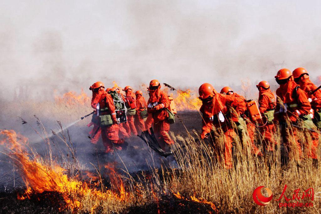 驻地龙隐寺发生森林火灾,平凉森林消防指战员投入灭火战斗