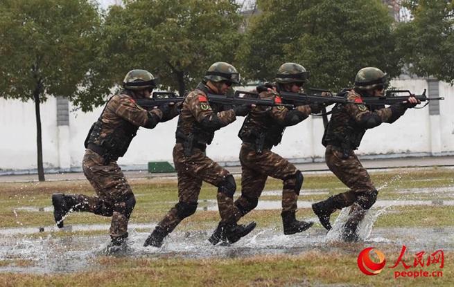 安徽武警:聚焦实战练协同 反恐特训砺精兵