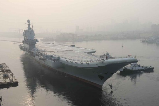 国产航母甲板涂装引关注 055大驱被期待亮相