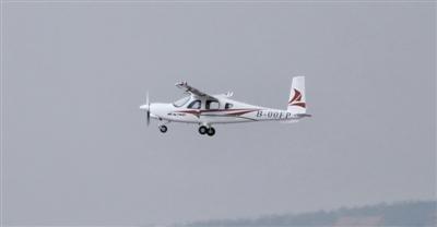 中国自主研发的新能源电动飞机在沈阳成功首飞