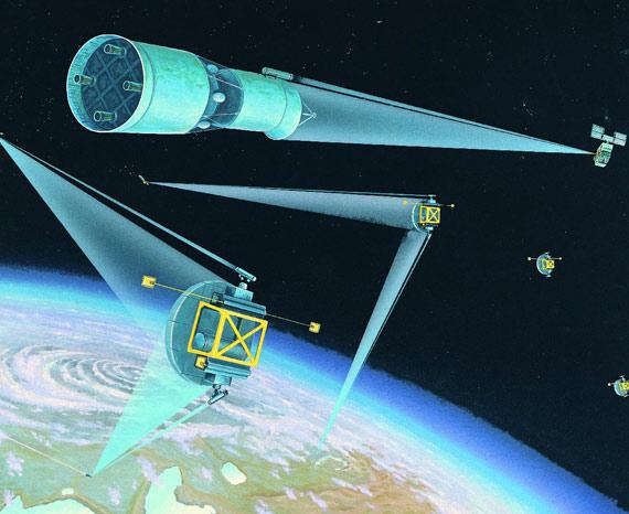 前苏联制订的太空防御计划示意图