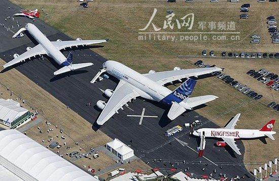 """被誉为""""优雅的绿色巨人""""空客a380型飞机在本届"""