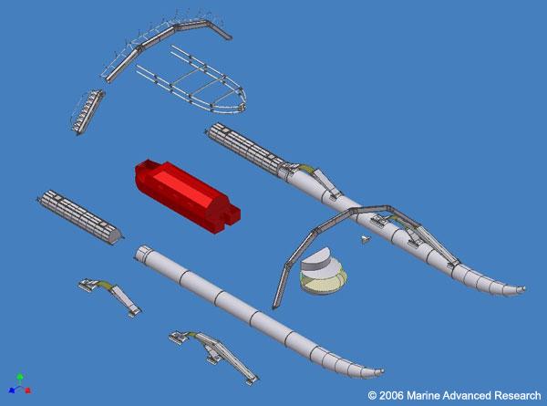 模块船的计算机结构图;