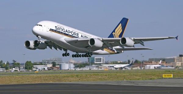 15日,空客公司在这里将这架客机交付给新加坡航空公司.-空客首次