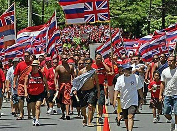 """宣称要""""行使""""夏威夷群岛主权."""