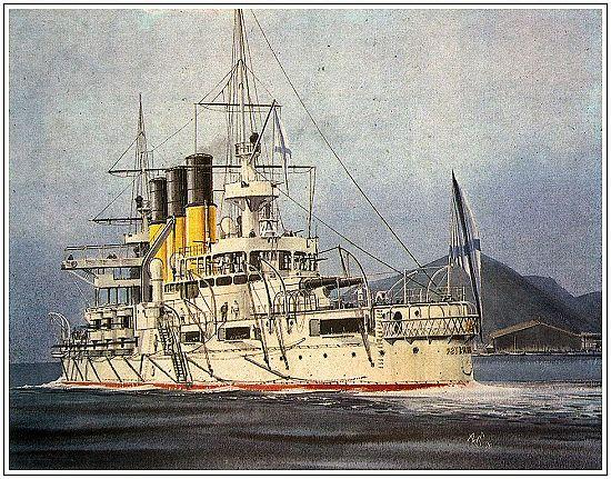 苏联海军战舰手绘图