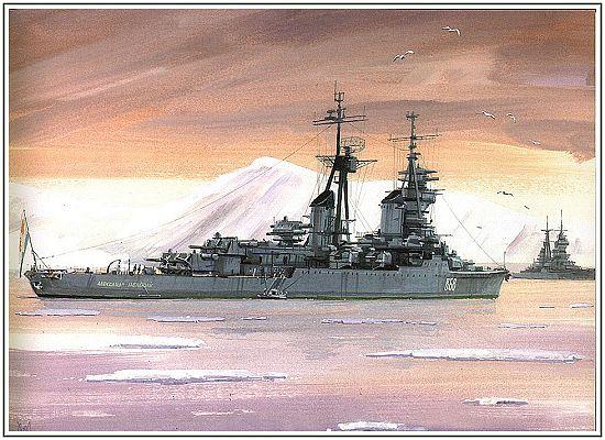苏联海军战舰手绘图 (4)