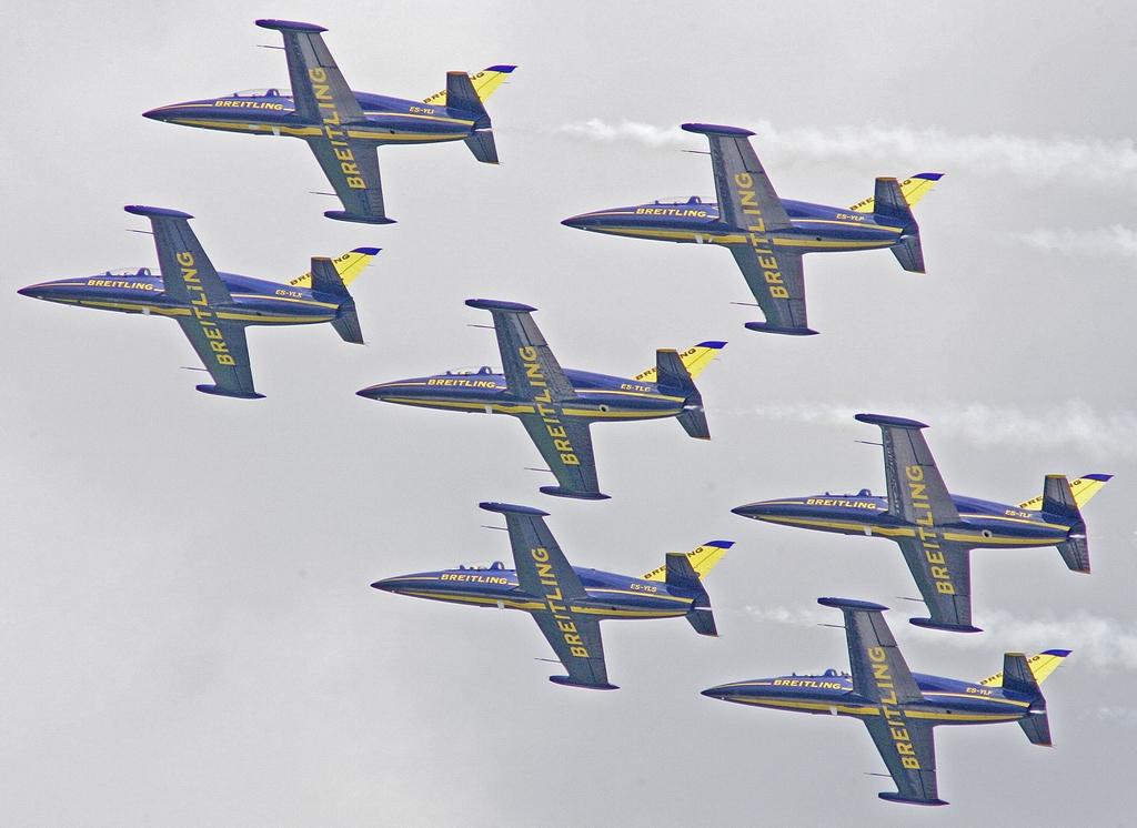 法国布雷特兰喷气式飞机飞行中队的7架l-39