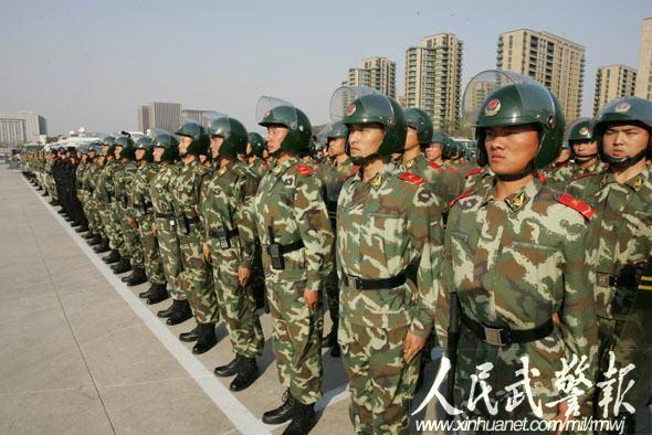 武警部队司令员吴双战检查指导全运会安保图片