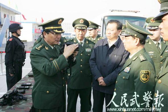 武警部队司令员吴双战检查指导全运会安保 7图片