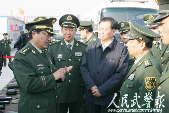 武警部队司令员吴双战检查指导全运会安保 6图片