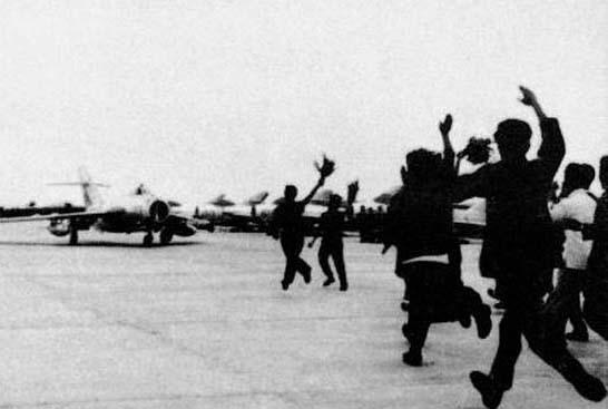 封锁金门击落c-46飞机战斗