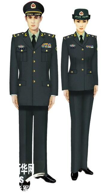 07式军服陆军文职将校官-受权发布 军服标准图样 常服图片