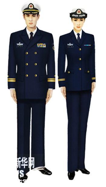 07式军服海军将校官(藏青)-受权发布 军服标准图样 常服图片