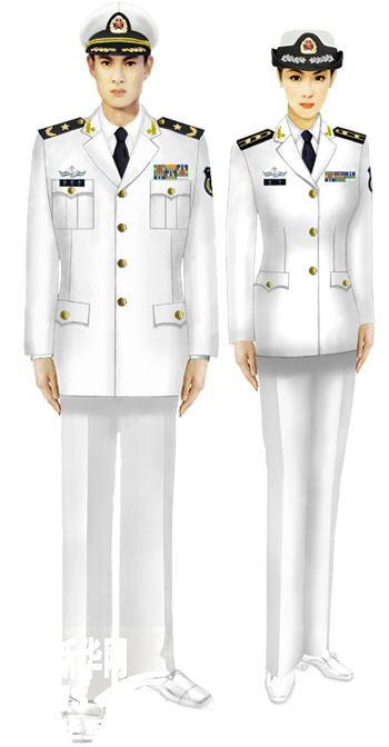 07式军服海军将校官(白)-受权发布 军服标准图样 常服图片
