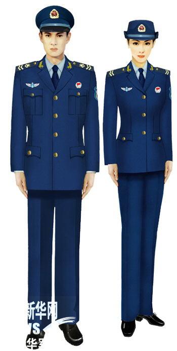 07式军服空军士兵-受权发布 军服标准图样 常服 9图片