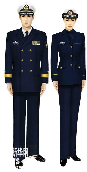 07式军服海军-受权发布 军服标准图样 冬服图片