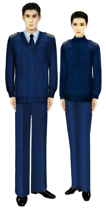 07式军服空军毛衣-受权发布 军服标准图样 毛衣 大衣 6图片