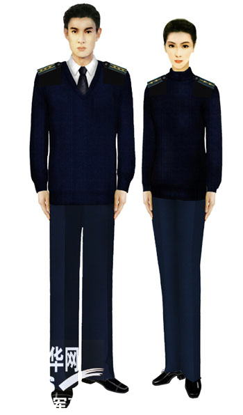 07式军服海军毛衣-受权发布 军服标准图样 毛衣 大衣图片