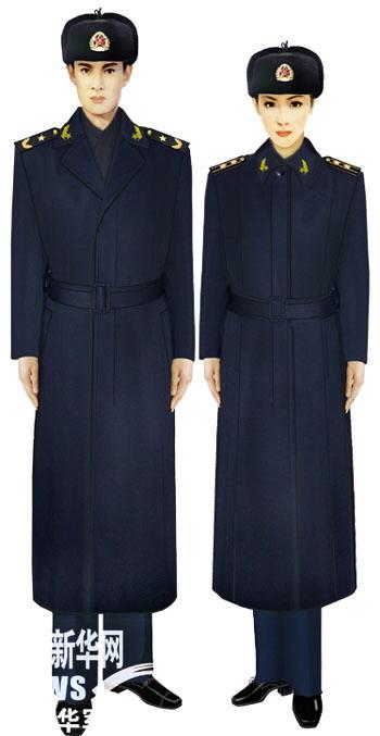 07式军服海军将校官大衣-受权发布 军服标准图样 毛衣 大衣图片