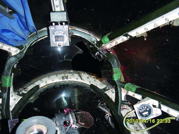 第一领航员位置前方挡风玻璃