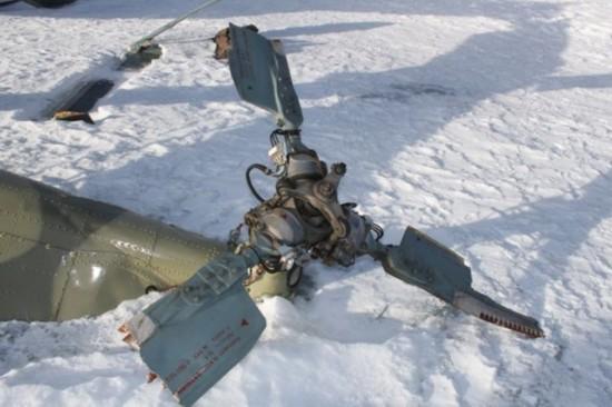 组图:俄军米-8直升机坠毁