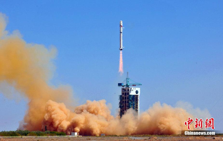 """高清:中国""""天绘一号""""卫星在酒泉成功发射"""