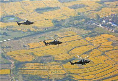 第72集团军某陆航旅开展实战化飞行训练