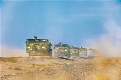 第八十三集团军某旅开展跨昼夜演练